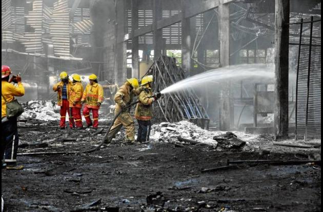 Los cuerpos de bomberos de Sincelejo, Tolú, Sampués y Corozal fueron necesarios