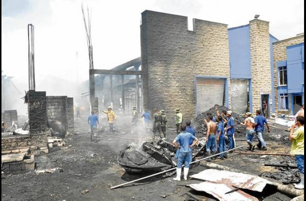 Así quedó la infraestructura luego de que fuese apagado el incendio.