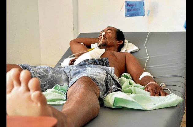 Ángel Mendoza Márquez recibió un disparo a la altura del abdomen.
