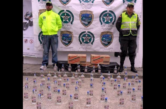 El licor incautado fue puesto a disposición de rentas departamentales.
