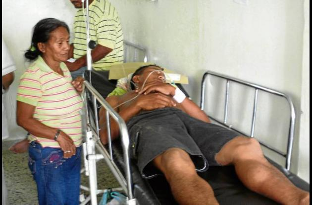 José Manuel Peñate Romero, herido.