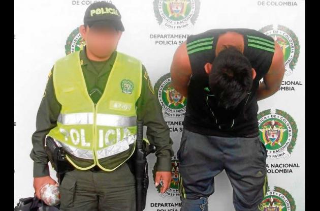 José Vanegas Acosta, capturado cuando lanzaba alucinógenos a la cárcel