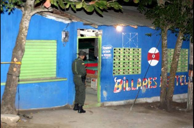 El asesinato de Miguel Bertel ocurrió en este billar del barrio Media Luna.