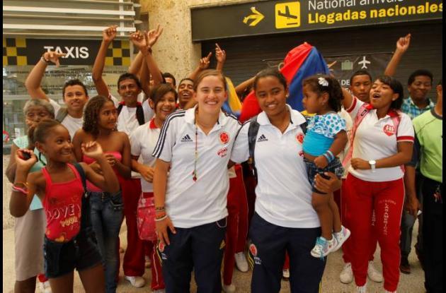 Cartagena recibe a sus jugadoras de la Selección Colombia Sub 17