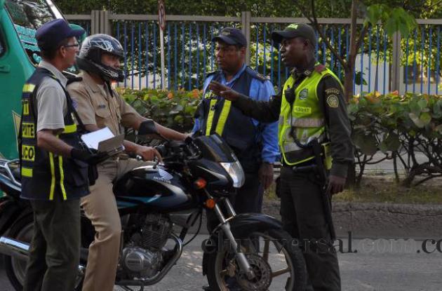 Operativo vial en Cartagena
