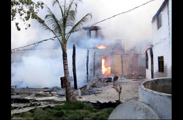 Incendio en Rincón del Mar