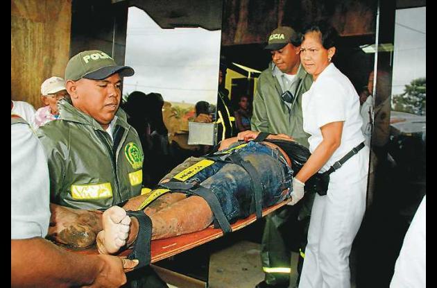 Eduardo Enrique Nieto fue evacuado del Banco Popular y trasladado a la Clínica C
