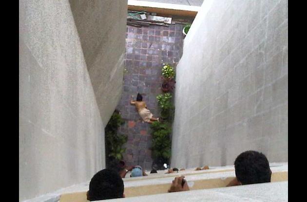 Mujer se lanzó desde el edificio Banco Popular.