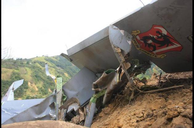Así quedó el avión militar Supertucano que según versiones oficiales, se acciden