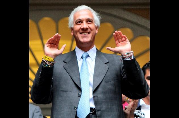 Samuel Moreno, alcalde de Bogotá.