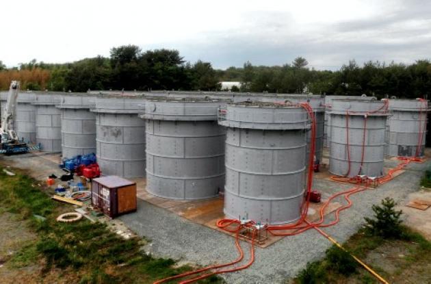Los tanques que almacenarán un total de 40.000 toneladas de agua radiactiva segu