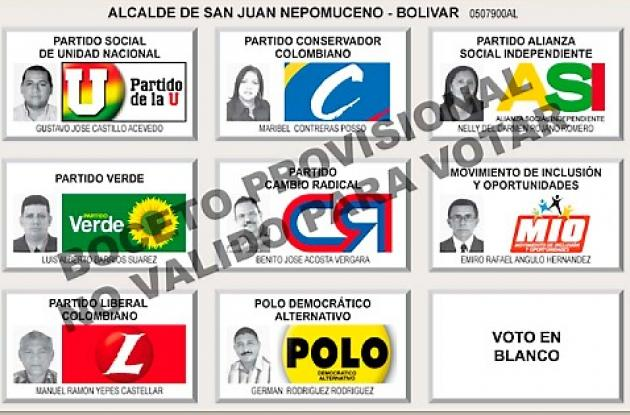 Registraduría da a conocer modelo de nuevo tarjetón electoral.