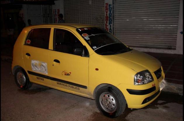 El taxi incautado.