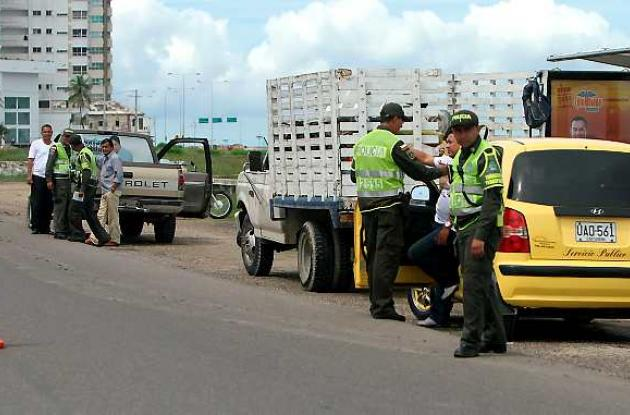 Controles policiales en Cartagena