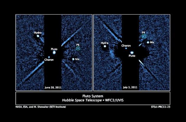 El telescopio espacial Hubble descubrió otra luna de Plutón.