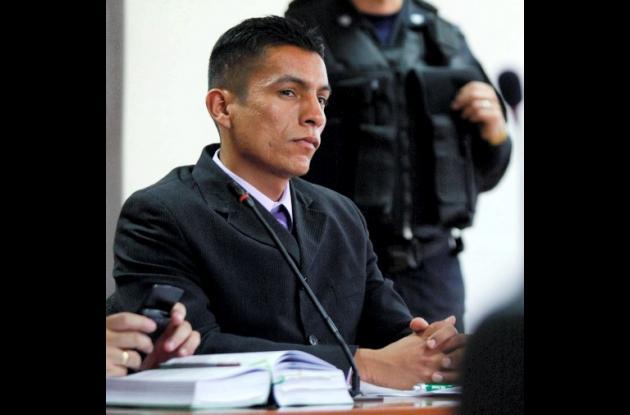 Raúl Muñoz Linares, subteniente del Ejército, acusado por su presunta responsabi