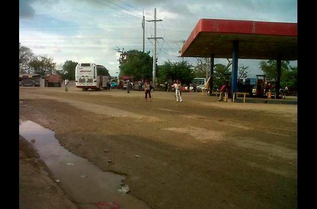 Entrada a la Terminal de Transportes de Cartagena