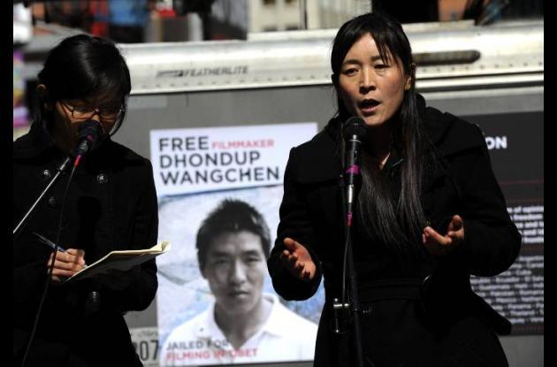 Lhamo Tso mujer de documentarista tibetano Dhondup Wangchen prisionero político