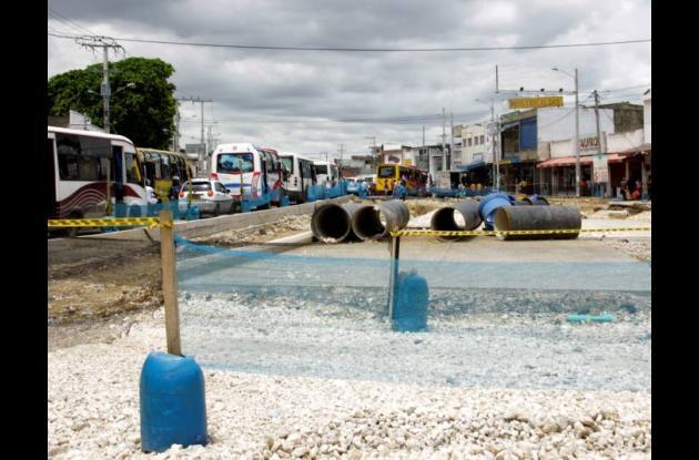 Avance de obras de Transcaribe en Cartagena