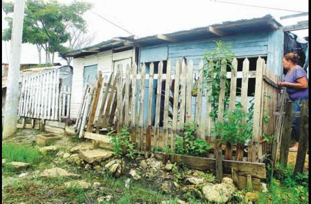 En esta humilde casa del sector Villa Hermosa del barrio Nelson Mandela ocurrier