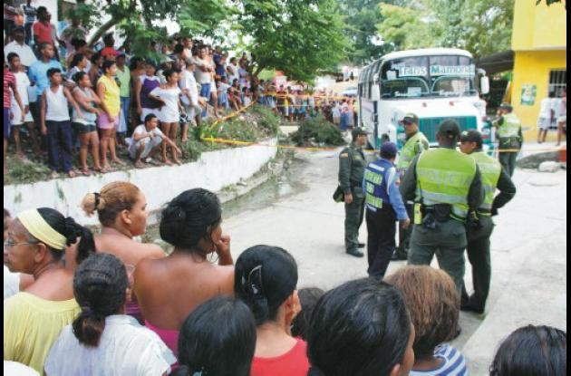 El trágico accidente de tránsito ocurrió ayer, a las 3 de la tarde, en el barrio