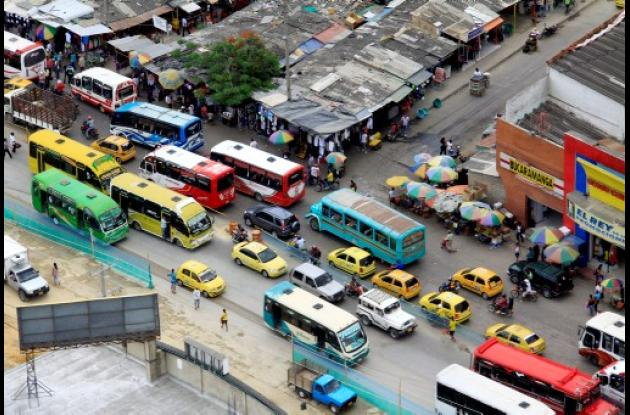Obras de Transcaribe en Cartagena.