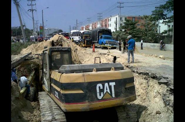 Construcción de doble calzada entre Cartagena y Arjona.
