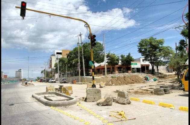 Obras del tramo 4 de Transcaribe.