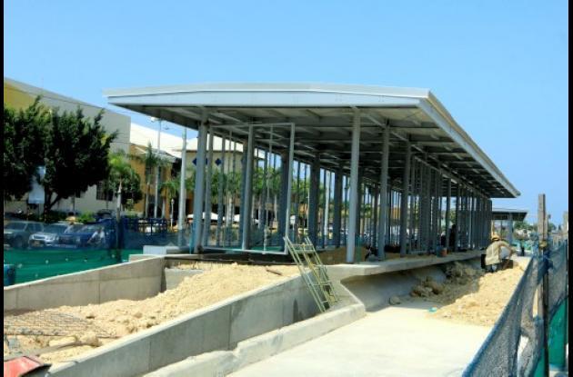 Construcción de estaciones de Transcaribe.