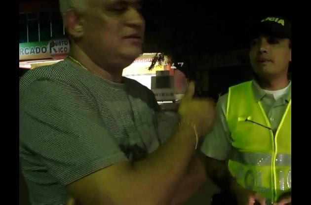 Modesto de la Cruz Carrasquilla, en retén de la Policía.