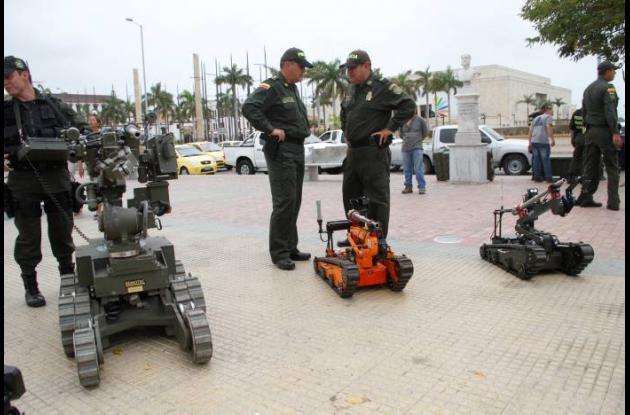 Entre 350 y 500 metros de distancia alcanzan estos robots para disparar a objeto