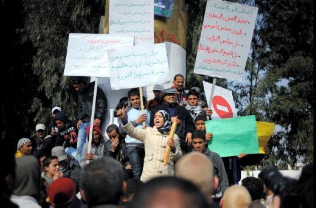 En Túnez siguen las protestas.