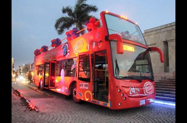Buses turísticos en Cartagena.