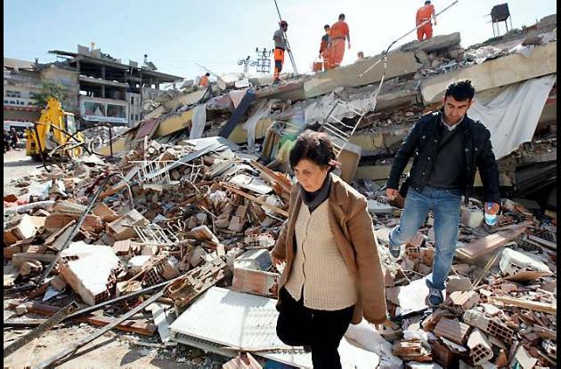 Así quedaron algunas zonas afectadas por el terremoto en Turquía.