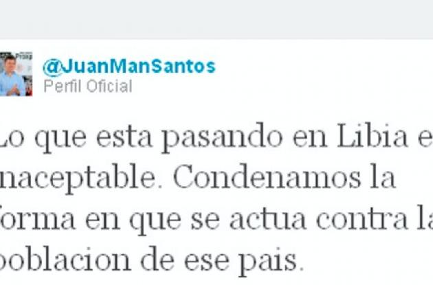 Twitter del presidente Juan Manuel Santos.
