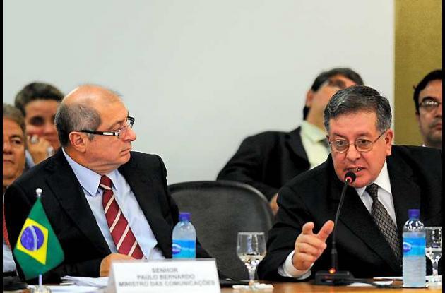 Reunión de la UNASUR celebrada en el Palacio de Itamaraty en Brasilia.