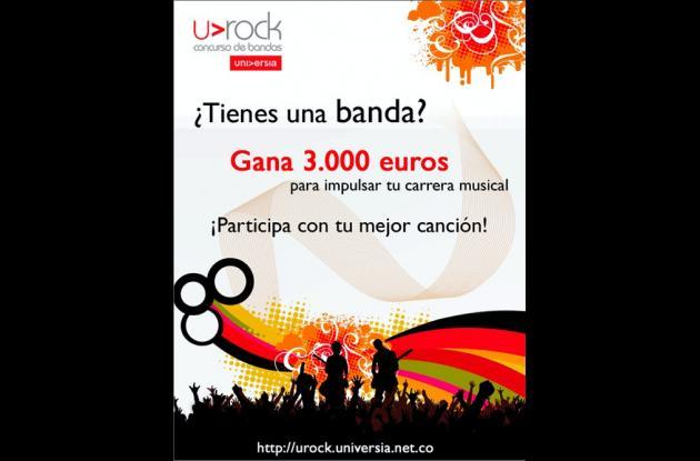 Afiche promocional del concurso de bandas.