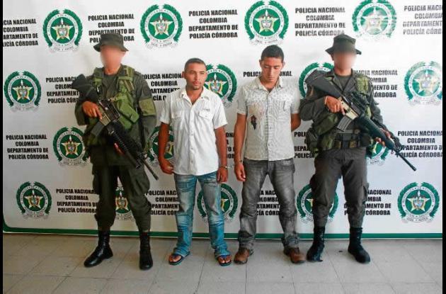 John Contreras y José Hernández, capturados