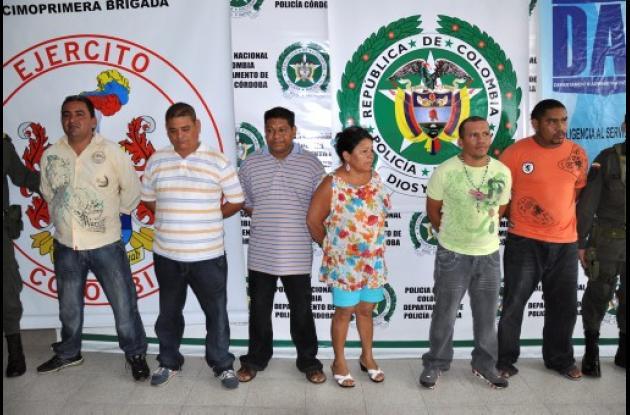 Miembros de la banda criminal Los Urabeños