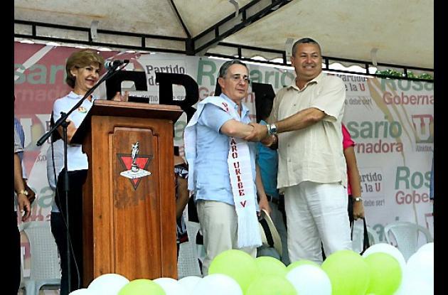 Uribe y Mayron Martínez en Turbaco.