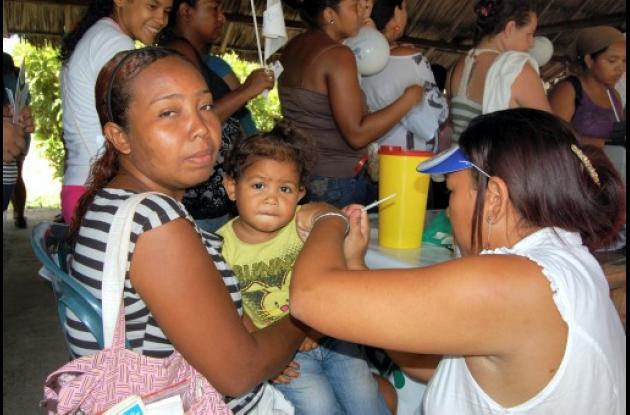 En Turbaco el Día de la Niñez se celebró con una jornada de vacunación.