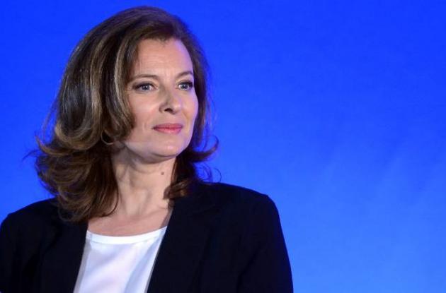 Valérie Trierweiler, compañera sentimental  de Francois Hollande.