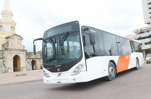 Prueba de buses de Transcaribe en Cartagena