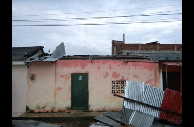 Mompox fue uno de los municipios más afectados por el vendaval de ayer.