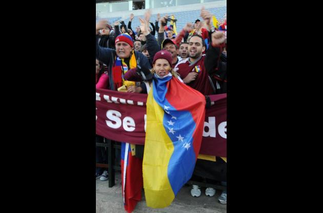 Hinchas de Venezuela.