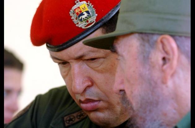 Chávez y Fidel: foto tomada en 2005.