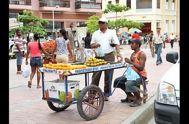 Reinvasión de espacio público en la Avenida Venezuela
