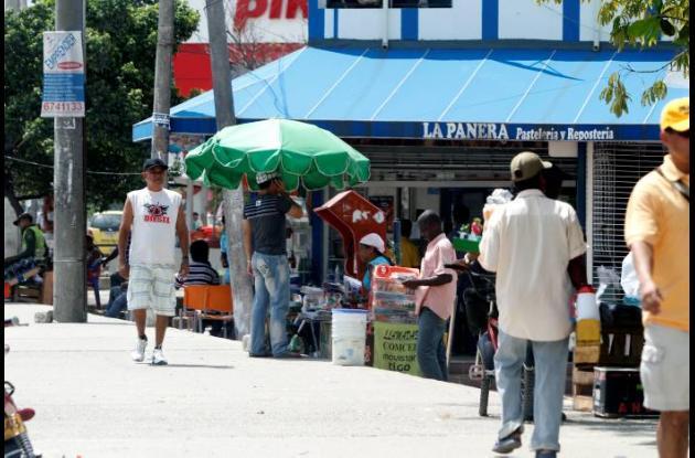 Ventas informales en espacio público de Cartagena
