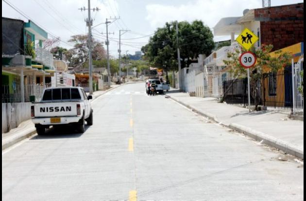 Obras de construcción de Vía del 13 de Junio.