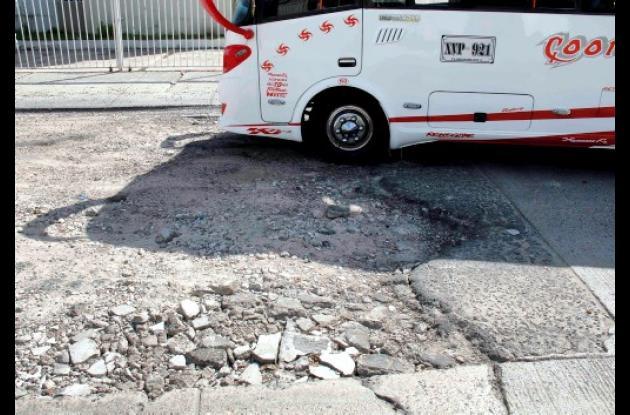 Vía deteriorada en Marbella